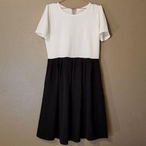 Lularoe Amelia Dress in Black and White